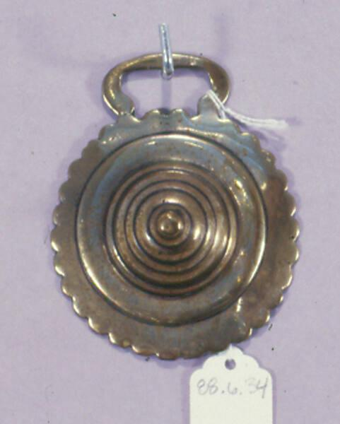 Horse brass,Dome in Scalloped Circle