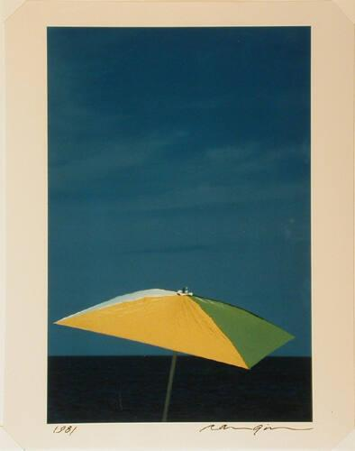 Untitled: Umbrella on beach, East Hampton (from Theorem)