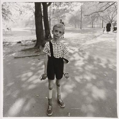 Child with a Toy Hand Grenade in Central Park, NYC