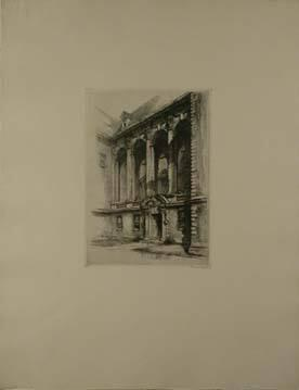 "Stetson Library (from ""Six Etchings of Williamstown"")"