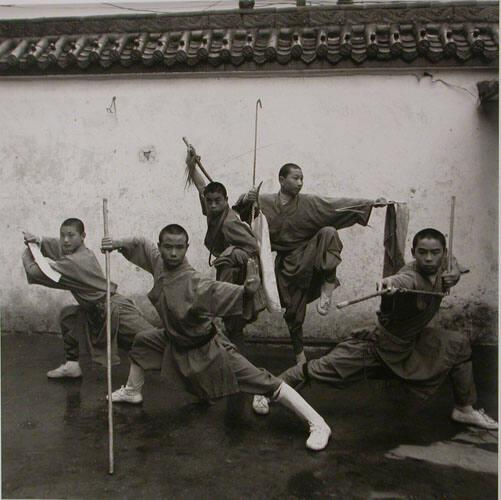 "Buddhist Monks Play Martial Arts, Shaolin Monastery, Henan Province, (from ""The Chinese"")"
