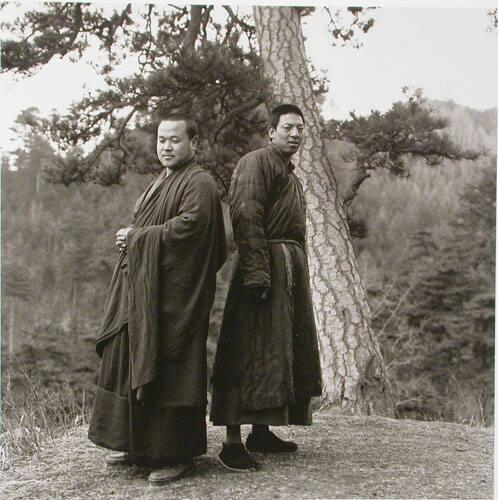 "Two Buddhist Monks in a Pine Forest, Wutai Mountain, Shanxi Province, (from ""The Chinese"")"