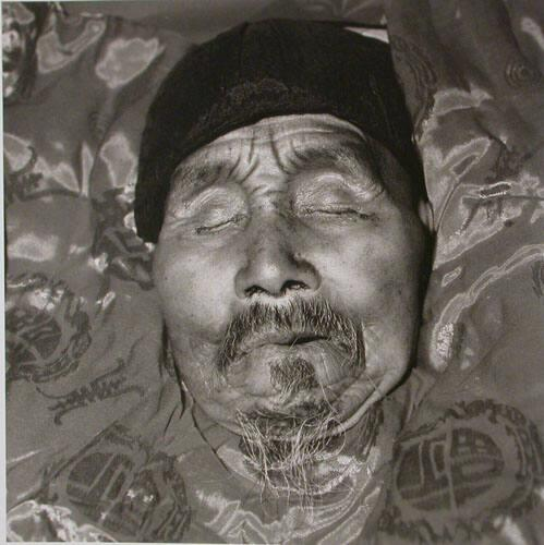"An Old Farmer in His Coffin, Longxian, Shaanxi Province, (from ""The Chinese"")"
