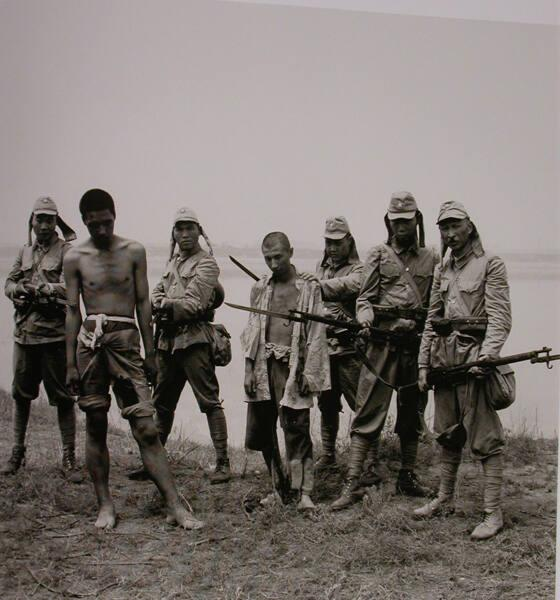 "Actors in a Film about the War Against the Japanese, Lugou Bridge, Beijing, (from ""The Chinese"")"