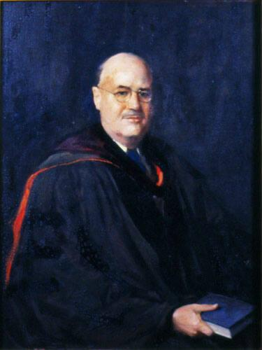Portrait of James Phinney Baxter III (1893-1975), Class of 1914, Tenth President of Williams College 1937-61, Williams College Trustee 1934-37