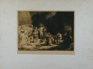 100 Guilder Print-- Christ Healing the Sick