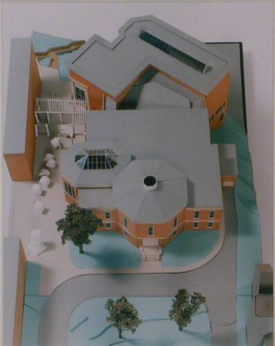 Project Model of Lawrence Hall: after completion of Phase II expansion