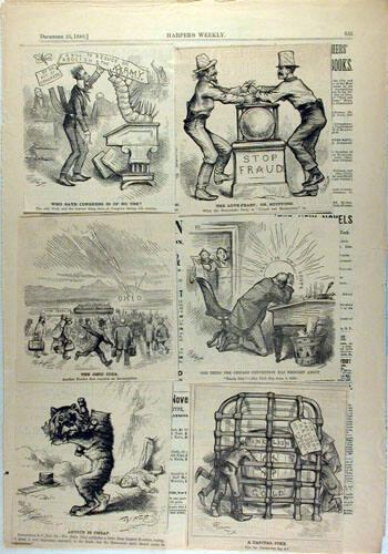 Six Cartoons from Harper's Weekly