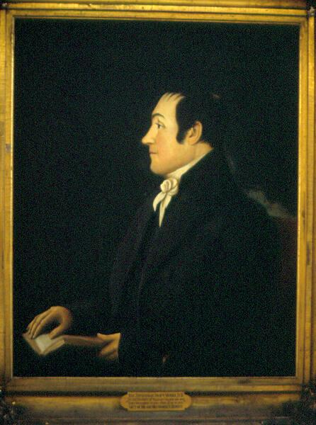 Portrait of Zephaniah Swift Moore (1770-1823), Second President of Williams College 1815-1821