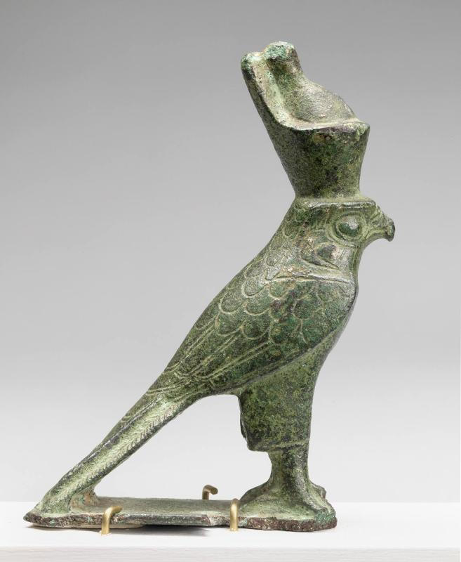 Statuette of a Falcon, Standing with Double Crown
