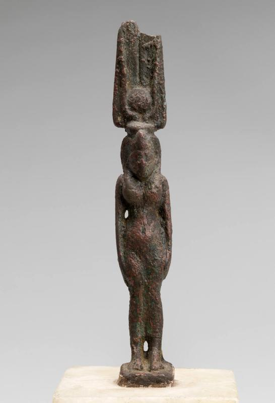 Statuette of Isis, Standing with Feathered Crown