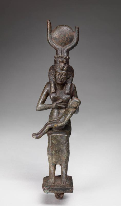 Statuette of Isis Nursing Infant Horus (Harpokrates)