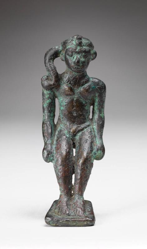 Statuette of Harpokrates, Seated with Sidelock
